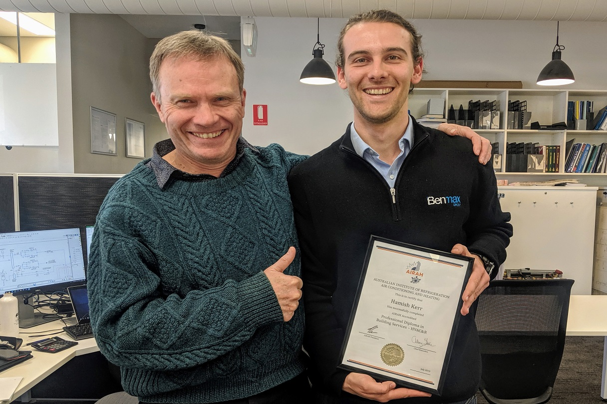 benmax-graduate-engineer-hamish-kerr-achieves-hvacr-qualification,